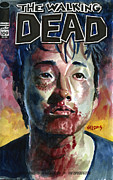 Television Paintings - Glenn Walking Dead by Ken Meyer jr