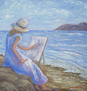Wa Paintings - Glennabythesea by Glenna McRae