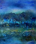 Haze Painting Prints - Glimmer of Dawn  Print by Trudi Doyle
