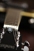 Music Photos - Glimpse Of A Guitar by Karol  Livote