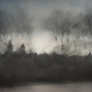 Row Prints - Glimpse of the Willamette Print by Carol Leigh