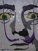 Salvador Mixed Media - Glitter Art Salvador Dali by Richard Ian Cohen