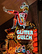 Escalator Framed Prints - Glitter Gulch - Downtown Las Vegas Framed Print by Jon Berghoff