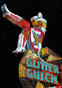Cowgirl Boots Posters - Glitter Gulch Girl Poster by David Lee Thompson