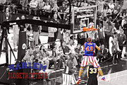 Dunks Posters - Globetrotter over the shoulders Poster by Robert Saunders Jr