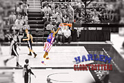 Globetrotters Prints - Globetrotter Slam Dunk Print by Robert Saunders Jr