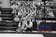 Harlem Digital Art Metal Prints - Globetrotters Hang Time Dunk Metal Print by Robert Saunders Jr
