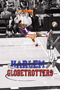 Dunks Posters - Globetrotters Super Slam Poster by Robert Saunders Jr
