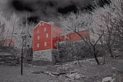 Blending Photos - Gloomy Looking Old Red Mill by Jim Lepard