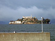 San Francisco Photo Acrylic Prints - Gloomy Prison Acrylic Print by Mike Podhorzer
