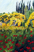 Chianti Hills Paintings - Glorioso Spazio by Seonaid  Ross