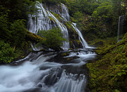 Falls Framed Prints - Glorious Cascading Framed Print by Mike Reid