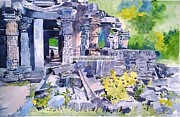 Temple Sculpture Framed Prints - Glorious days Framed Print by Rajesh Desai