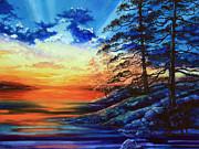 Glorious Lake Sunset Print by Hanne Lore Koehler
