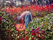 Texture Floral Painting Prints - Glorious Morning Print by Michael Durst