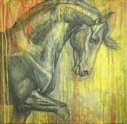 Friesian  Horse Prints - Glorious Print by Silvana Gabudean