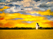 Prairie Sunset Paintings - Glory by Carmen Hathaway