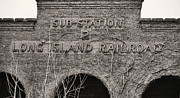Railroad Depot Framed Prints - Glory Days BW Framed Print by JC Findley
