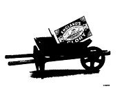 Spoked Wheel Prints - Glory In A Wheelbarrow By Anthony S. Murrell Print by Anthony S Murrell