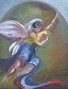 New Jersey Painting Originals - Glory With Archangel Gabriel by Patricia Kimsey Bollinger
