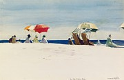 Parasols Paintings - Gloucester Beach by Edward Hopper