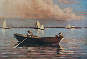 Boston Harbor Paintings - Gloucester Harbour by Winslow Homer