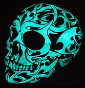 Glow In The Dark Originals - Glow in the dark 3D gothic skull by Twilight Vision
