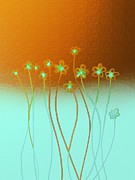 Tea Tree Flower Prints - Glow Print by Len YewHeng