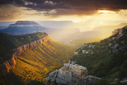 North Rim Photos - Glow of the Gods by Peter Coskun