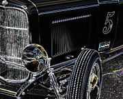 Deuce Coupe Framed Prints - Glowing Deuce Framed Print by Steve McKinzie