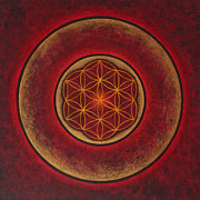Flower Of Life Posters - Glowing Poster by Erik Grind