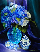 Donna Pierce-clark Art - Glowing Hydrangeas by Donna Pierce-Clark