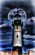 Duluth Art - Glowing Lighthouse 2 by Todd and candice Dailey
