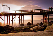Seascape Prints - Glowing Pier Print by Eva Kondzialkiewicz
