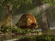 Forest Creature Posters - Glyptodon Poster by Daniel Eskridge