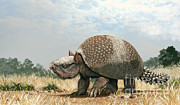 Animal Behavior Digital Art - Glyptotherium Arizonae, A North by Roman Garcia Mora