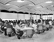 Cafeteria Photo Prints - GM Employee Cafeteria Print by Underwood Archives