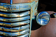 Gmc Photos - GMC Truck Grille Emblem by Jill Reger