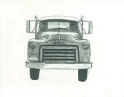 Automotive Drawings - GMC Truck by Jennifer Slouha