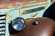 Gmc Framed Prints - GMC Truck Side Emblem Framed Print by Jill Reger