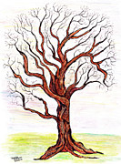 Inktense Prints - Gnarly Tree Print by David Wetzel