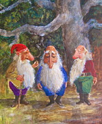 Dwarves Prints - Gnome meeting Print by Richard Yoakam