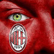 Make-up Posters - Go AC Milan Poster by Semmick Photo