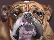Go Bulldogs Print by Marie Clark