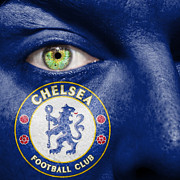 Soccer Ball Posters - Go Chelsea FC Poster by Semmick Photo