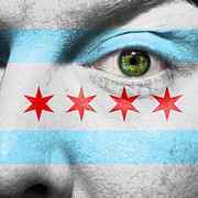 Stripe.paint Photo Prints - Go Chicago Print by Semmick Photo
