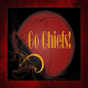 Kc Posters - Go Chiefs Poster by Andee Photography