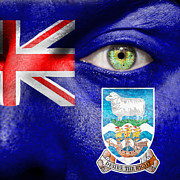 Coat Of Arms Posters - Go Falkland Islands Poster by Semmick Photo