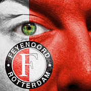 Make-up Posters - Go Feyenoord Poster by Semmick Photo