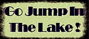 Lakehouse Framed Prints - Go Jump In The Lake Framed Print by Desiree Paquette